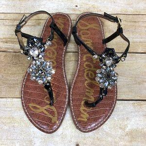 c6f0e46201bd74 Sam Edelman Shoes - Sam Edelman Grayson Embellished Thong Sandal